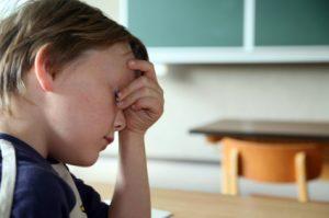 child sad